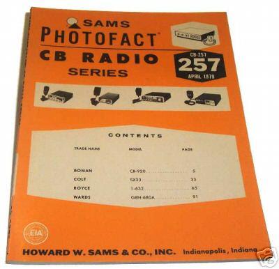 Sams photofact cb 257 april 1979 cb radio series for Lloyds motors jamestown nd