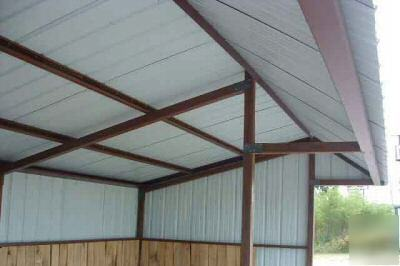 9x20 All Steel Loafing Shed