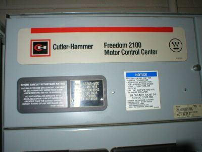 cutler hammer freedom f 2100 motor control center mcc