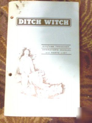 Ditch witch C77 C99 trencher operators manual parts
