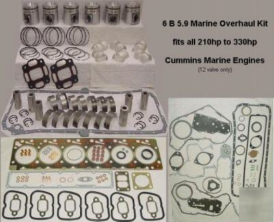 New 6 b 5.9 marine overhaul kit for cummins marine