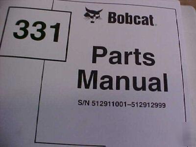 Bobcat Parts Manual Mini Excavator Repair Shop Img