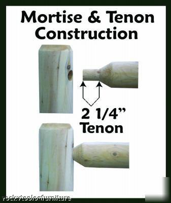 Hand Hewn 10 Section Cedar Rustic Log Deck Railing