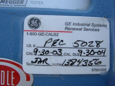Biddle Megger Hand Crank Insulation Tester Type 210170