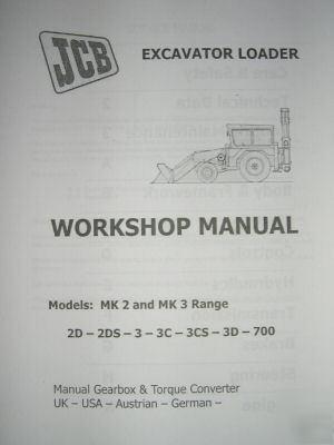 Jcb MK2 and MK3 excavator repair manual