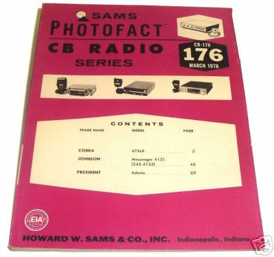 Sams photofact cb 176 march 1978 cb radio series for Lloyds motors jamestown nd