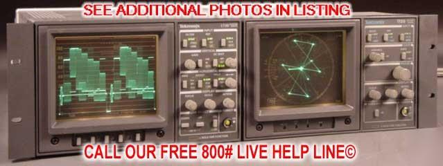 tektronix 1730 1720 ntsc waveform monitor  u0026 vectorscope
